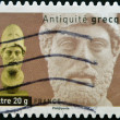 FRANCE - CIRCA 2007: A stamp printed in France dedicated to ancient Greece, shows bust of Alexander the Great, circa 2007 — Stock Photo