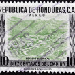 Постер, плакат: HONDURAS CIRCA 1980: A stamp printed in Honduras shows national Stadium circa 1980