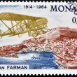 MONACO - CIRCA 1964: stamp printed in Monaco shows Farman biplane, circa 1964 — Stock Photo