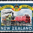 NEW ZEALAND - CIRCA 1963: a stamp printed in New Zelanad commemorative stamp celebrating 100 years of railways, circa 1963 — Stock Photo