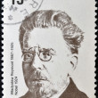 POLAND - CIRCA 1982: A stamp printed in Poland shows Wadysaw Stanisaw Reymont was a Polish novelist and the 1924 laureate of the Nobel Prize in Literature, circa 1982 — Stock Photo #10894568
