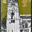 Royalty-Free Stock Photo: UNITED KINGDOM - CIRCA 1972: A stamp printed in Great Britain shows Earls Barton Northants, circa 1972