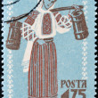 ROMANIA - CIRCA 1958: A stamp printed in romania shows woman's folk costume of northern Moldavia, circa 1958 — Stock Photo #10894667