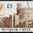 UNITED KINGDOM - CIRCA 1997: A stamp printed in Great Britain showing Windsor Castle, circa 1997 — Stock Photo