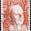 SWITZERLAND - CIRCA 1990: A stamp printed in Switzerland shows Paul Klee, circa 1990 - Lizenzfreies Foto