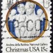 UNITED STATED OF AMERICA - CIRCA 1978: A stamp printed in USA shows Madonna and Child with Cherubim, Andrea della Robbia, circa 1978 — Stock Photo