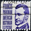 UNITED STATES OF AMERICA - CIRCA 1967: a stamp printed in USA shows Francis Parkman, circa 1967 - 图库照片