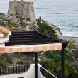 Stock Photo: Terrace overlooking sein Mediterranean, Spain