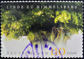GERMANY - CIRCA 2001: A stamp printed in Germany shows linden to Himmelberg, circa 2001 — Stock Photo