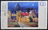 GERMANY - CIRCA 1994: A stamp printed in Germany shows The Water Tower in Bremen, Painting by Franz Radziwill, circa 1994 — Stock Photo