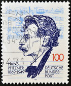 GERMANY- CIRCA 1994: stamp printed in Germany shows Hans Pfitzner, Composer, circa 1994. — Stock Photo