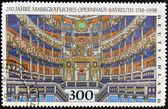 GERMANY - CIRCA 1998: stamp printed in Germany, shows Bayreuth Opera, circa 1998. — Stock Photo