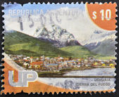 ARGENTINA - CIRCA 2000: A stamp printed in Argentina shows Ushuaia, Tierra del Fuego, circa 2000 — Stock Photo