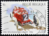 BELGIUM - CIRCA 1996: A stamp printed in Belgium shows Alfa Romeo R2 (1925), circa 1996 — Stock Photo