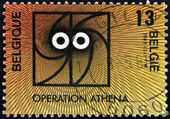 BELGIUM - CIRCA 1988: A stamp printed in Belgium dedicated to operation Athena, circa 1988 — Stock Photo