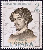 SPAIN - CIRCA 1970: A stamp printed in Spain shows Gustavo Adolfo Becquer, circa 1970 — Stock fotografie