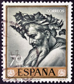 "SPAIN - CIRCA 1963: A stamp printed in Spain shows ""The Triumph of Bacchus"" by Jose de Ribera, circa 1963 — Stock Photo"