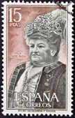 SPAIN - CIRCA 1972: A stamp printed in Spain shows Emilia Pardo Bazan, circa 1972 — Stock Photo