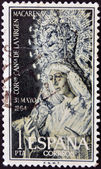 SPAIN - CIRCA 1964: A stamp printed in Spain shows Coronation of the Virgin Macarena, Seville, circa 1964 — Stock Photo
