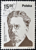 POLAND - CIRCA 1982: A stamp printed in Poland shows Wadysaw Stanisaw Reymont was a Polish novelist and the 1924 laureate of the Nobel Prize in Literature, circa 1982 — Stock Photo