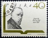 POLAND - CIRCA 1969: A stamp printed in Poland shows polish writer Leopold Staff, circa 1969 — Stock Photo