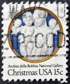 UNITED STATED OF AMERICA - CIRCA 1978: A stamp printed in USA shows Madonna and Child with Cherubim, Andrea della Robbia, circa 1978 — Foto Stock