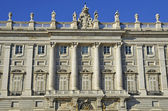 Royal Palace in Madrid. Facade. Spain — Stock Photo