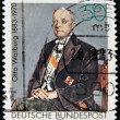 GERMANY - CIRCA 1983: A stamp printed in Germany shows Otto Heinrich Warburg - German physiologist, medical doctor and Nobel laureate, circa 1983 — Stock Photo