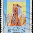 Royalty-Free Stock Photo: BAHRAIN - CIRCA 1990: A stamp printed in Bahrain shows amir Isa ibn Salman al-Khalifa, circa 1990