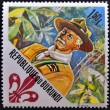 BURUNDI - CIRC1967: stamp printed in Burundi dedicated to boy scouts shows Lord Baden-Powell (founder), circ1967 — Stock Photo #11015470