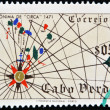 CAPE VERDE - CIRCA 1971: A stamp printed in Cape Verde shows anonymous Portuguese sea chart of 1471, circa 1971 — Stock Photo