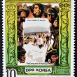DEMOCRATIC 'S REPUBLIC (DPR) of KOREA - CIRCA 1980: A stamp printed in North Korea shows Vasco Nunez da Balboa, series The Conqueror of Eath, circa 1980 — Stock Photo