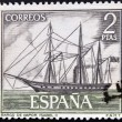Stock Photo: SPAIN - CIRC1964: stamp printed in spain shows steamship Isabel II, circ1964