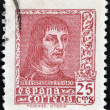 SPAIN - CIRCA 1960: A stamp printed in Spain shows Ferdinand the Catholic, King of Aragon and Castile, circa 1960 — Stock Photo #11015593