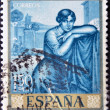 SPAIN - CIRCA 1964: A stamp printed in spain shows a painting by Julio Romero de Torres, circa 1964 — Stock Photo