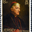 Stock Photo: JERSEY - CIRC1983: stamp printed in Jersey shows Cardinal Newman, circ1983