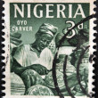 NIGERI- CIRC1961: stamp printed in Nigerishows Oyo carver, circ1961 — Stock Photo #11015657