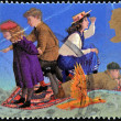 图库照片: UNITED KINGDOM - CIRC1998: stamp printed in Great Britain shows phoenix and Casper by Edith Nesbit, circ1998