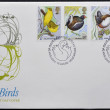 Stock Photo: UNITED KINGDOM- CIRC1980: stamps printed in Great Britain shows birds, circ1980