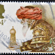 Stock Photo: UNITED KINGDOM - CIRCA 1984: A stamp printed in Great Britain shows a Christmas postage stamp with Wise Man and Gift, circa 1984
