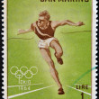 Stock Photo: SAN MARINO - CIRC1964: stamp printed by SMarino, shows Runner, circ1964