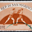 Stock Photo: SAN MARINO - CIRC1954: stamp printed in SMarino, shows Boxing, circ1954