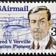 UNITED STATES OF AMERICA - CIRCA 1985: A stamp printed in the USA, shows Alfred V. Verville, circa 1985 — Stock Photo