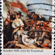 UNITED STATES OF AMERICA - CIRCA 1975: A stamp printed in USA shows Bunker Hill 1775 by Trumbull, Bicentennial, circa 1975 — Stockfoto