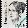 UNITED STATES OF AMERICA - CIRCA 1983: A stamp printed in USA, shows Dorothea Lynde Dix, circa 1983 — Stock Photo