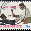 UNITED STATES OF AMERICA - CIRCA 1977 : A stamp printed in  USA shows the Blacksmith for independence, circa 1977 — Stock Photo