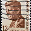 UNITED STATES OF AMERICA - CIRCA 1967: a stamp printed in USA shows John F. Kennedy, 35th President of USA, circa 1967 - Stock Photo
