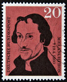 GERMANY - CIRCA 1960: A stamp printed in Germany shows Philipp Melanchthon , circa 1960 — Stockfoto