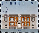 CANADA - CIRCA 1994: stamp printed in Canada shows Court House, Yorkton, circa 1994 — Zdjęcie stockowe