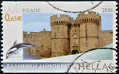 GREECE - CIRCA 2006: A stamp printed in Greece, shows the island Rhodes, circa 2006 — Stockfoto